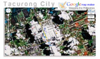 A screenshot of Tacurong City in a Google Map Maker. Note that the streets of Brgy. Poblacion are almost all mapped!