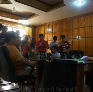 Bloggers interviewing the city mayor Hon Lina Montilla at her office.