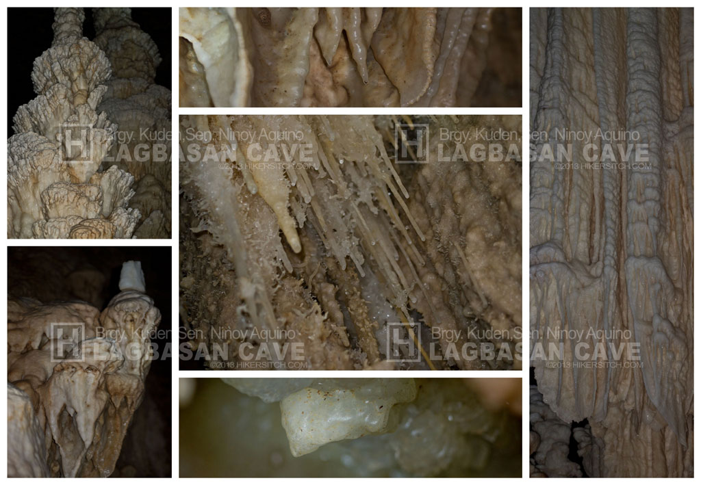 Some of speleothems you can see inside Lagbasan Cave