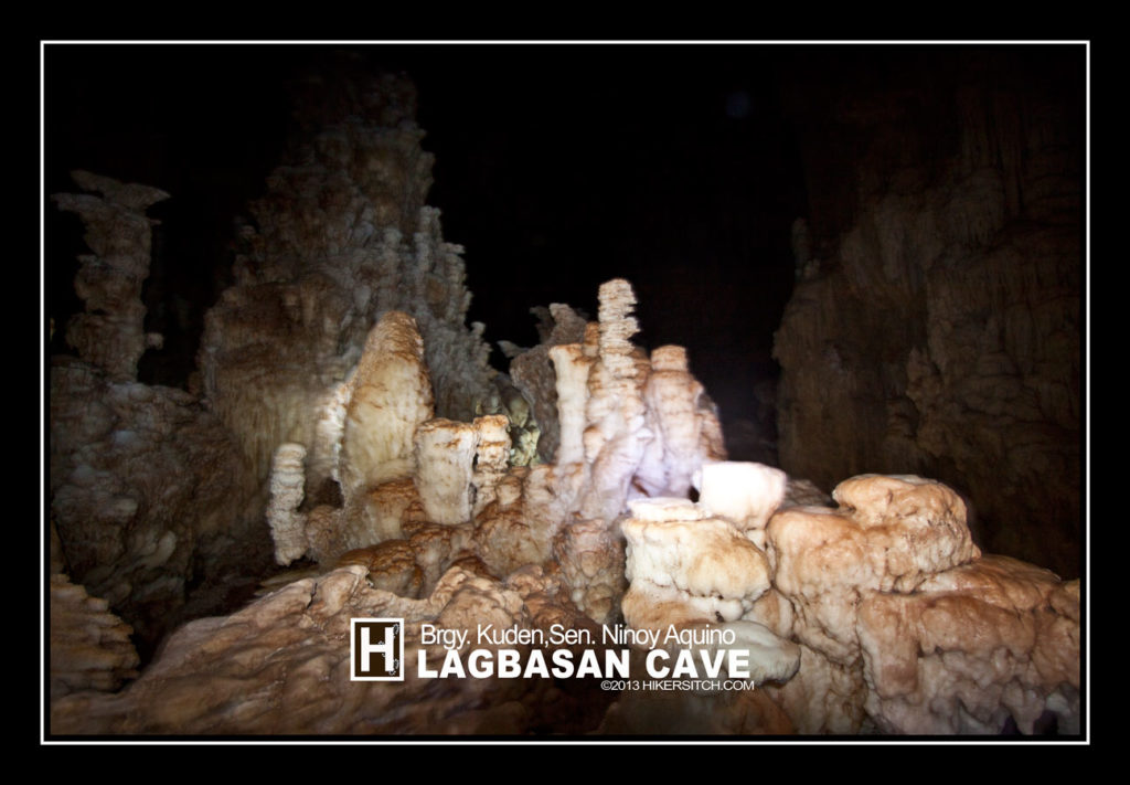 At the chamber entrance of Lagbasan Cave