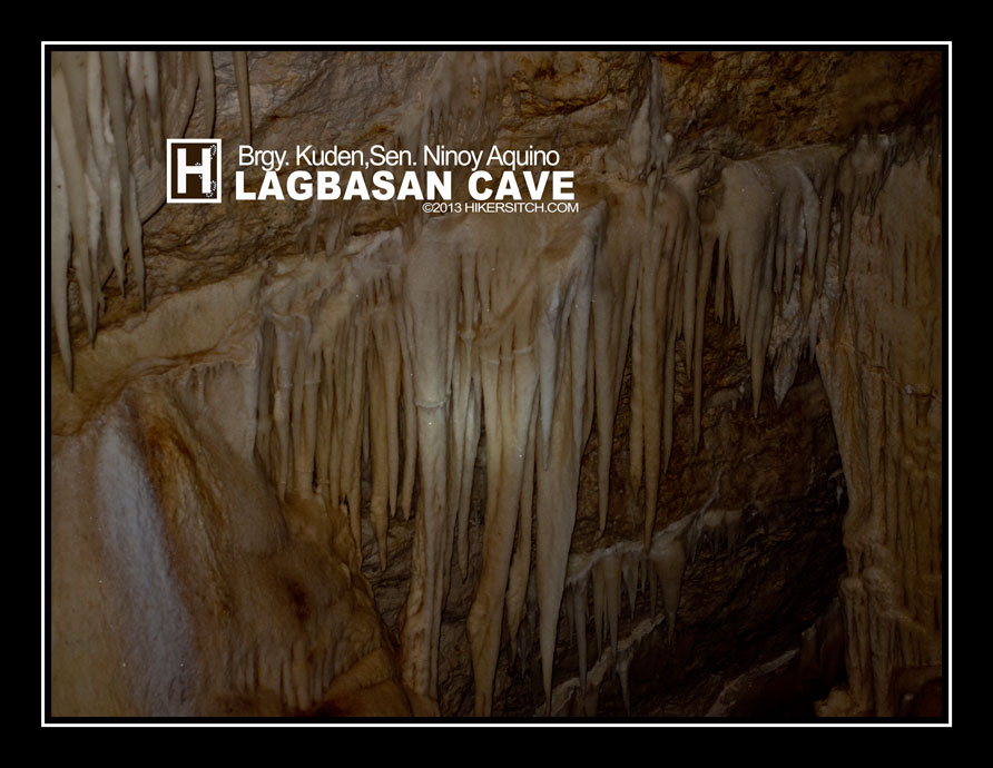 curtain drapes stalactites hang on every corner and ceilings of Lagbasan Cave