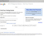 Snapshot of Google's find your precinct app portal page.