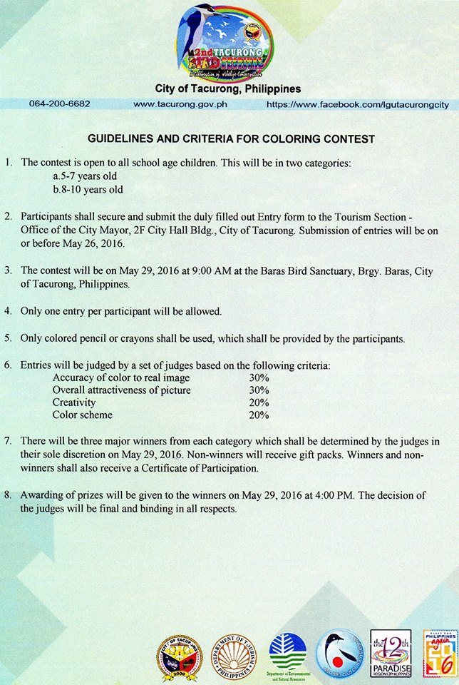 Guidelines for Coloring Contest 1